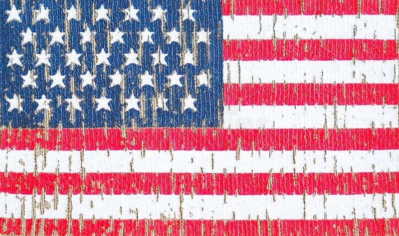 Bandera americana en una camiseta de un soldado del Ejército de los EE. UU. Foco selectivo ilustración del vector