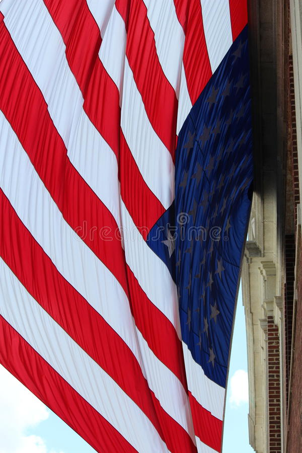 Bandera americana enorme foto de archivo libre de regalías
