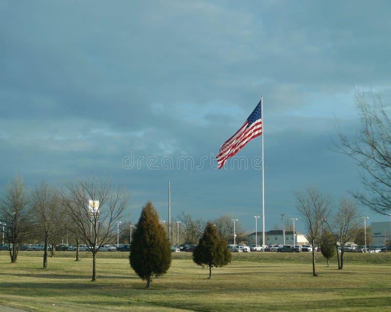 Bandera americana grande del noroeste de Fayetteville, Arkansas, Arkansas fotografía de archivo