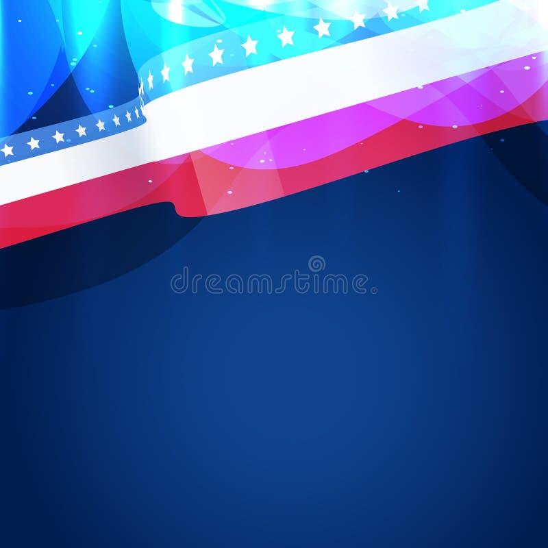 Download Bandera americana hermosa ilustración del vector. Ilustración de campaña - 41919492