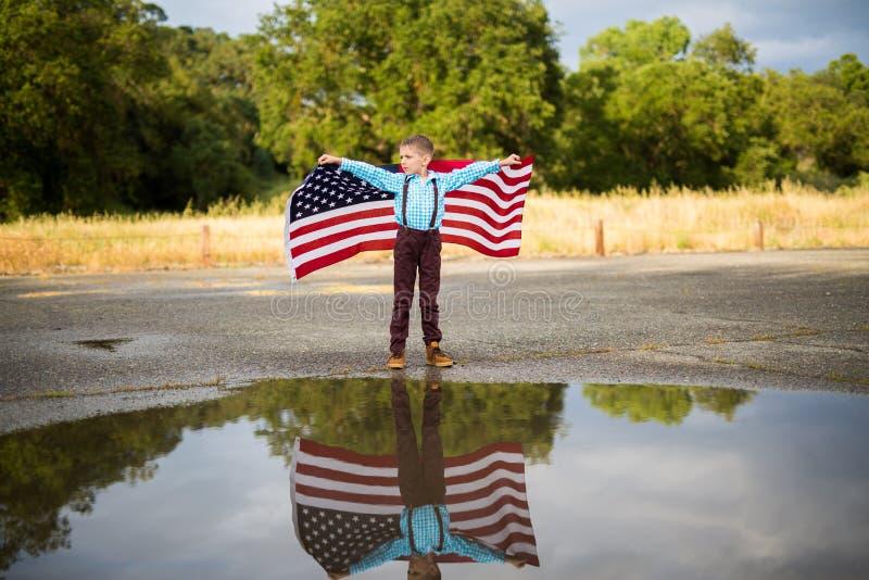 Bandera americana, Memorial Day foto de archivo