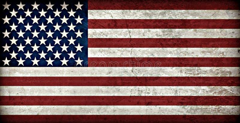 Bandera americana rústica imagen de archivo