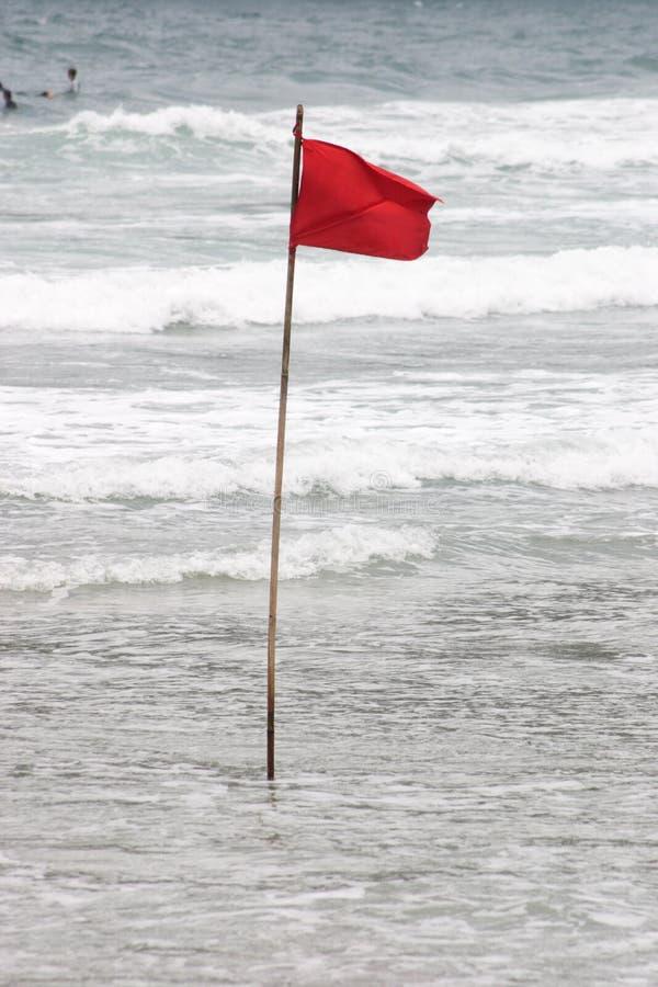 Bandera amonestadora imagen de archivo libre de regalías