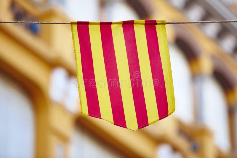 Bandera aragonese y catalana tradicional españa imagen de archivo libre de regalías