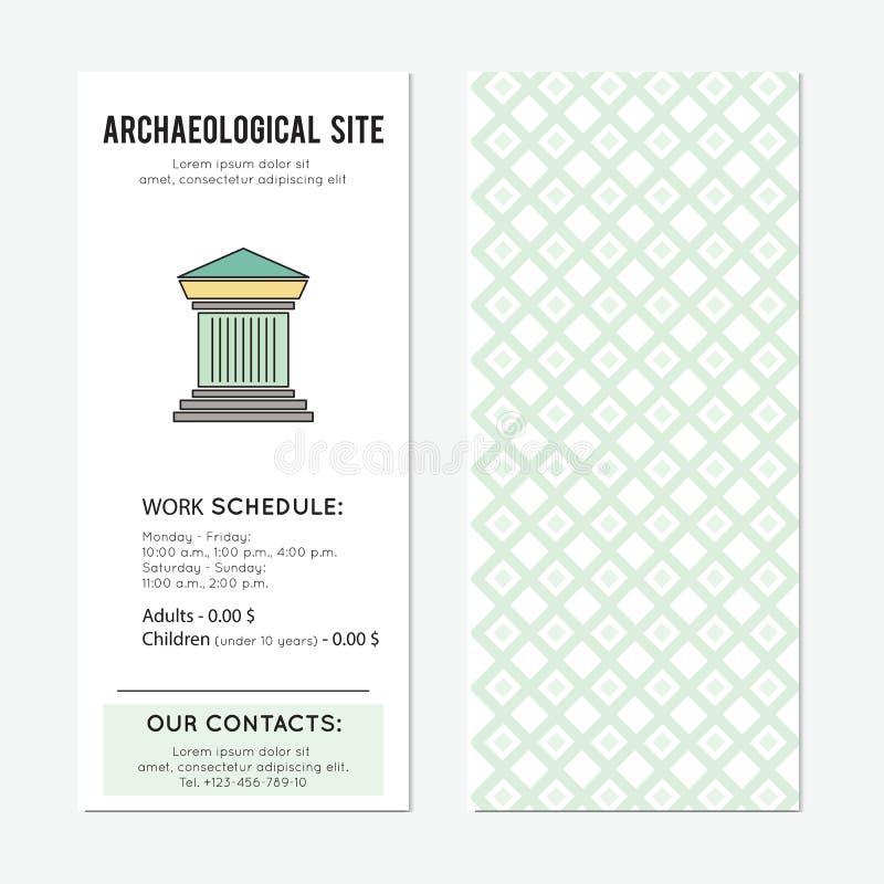 Bandera arqueológica de la vertical del sitio libre illustration