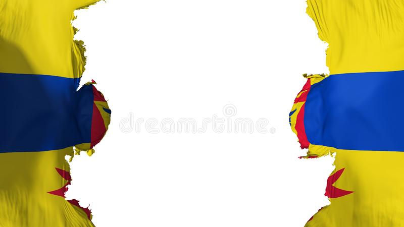 Bandera arruinada del capital de Saint Paul stock de ilustración