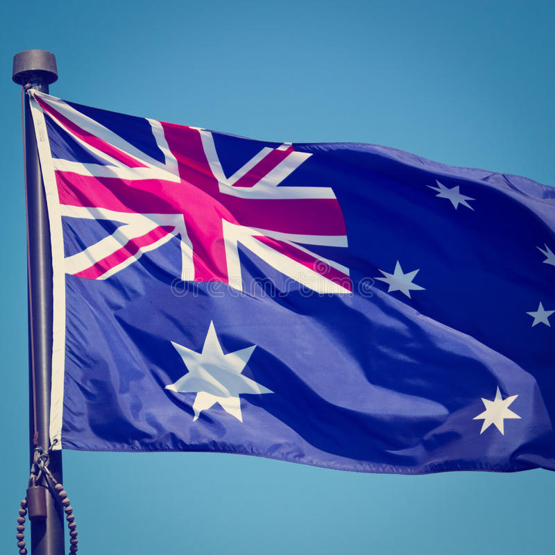 Bandera australiana imágenes de archivo libres de regalías
