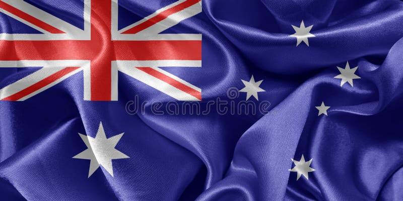 Bandera australiana que agita en el viento fotografía de archivo libre de regalías