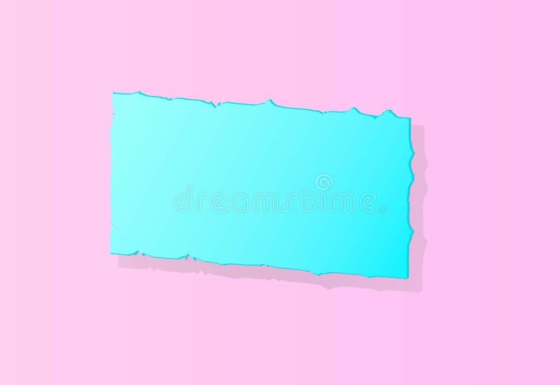Bandera azul clara en un fondo rosado ilustración del vector