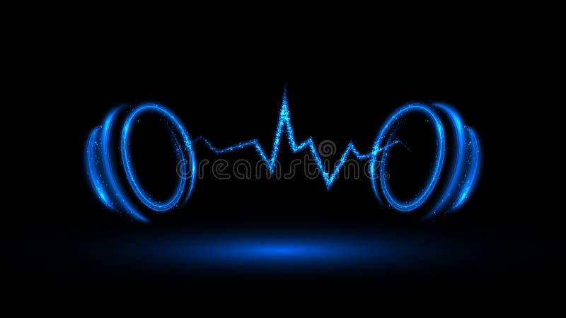 Bandera azul de la música libre illustration