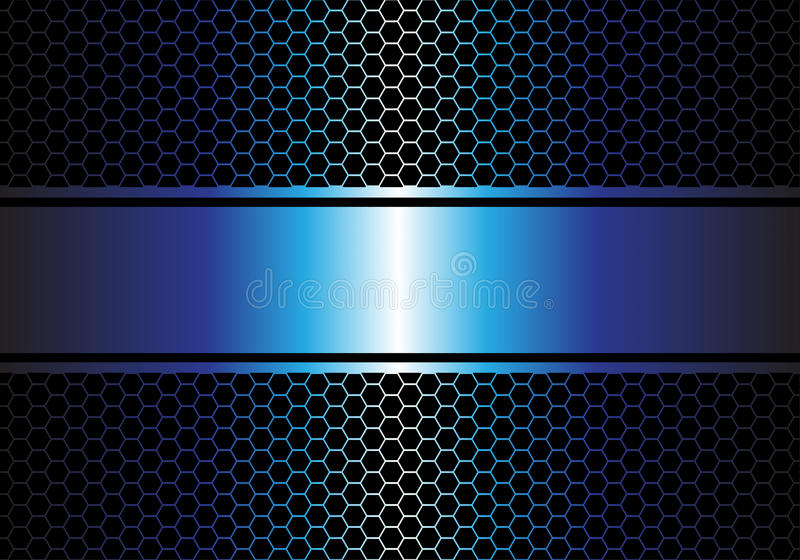Fondo Azul Metálico Abstracto De Diseño Moderno De La: Bandera Azul Del Metal En Vector Moderno De Lujo Del Fondo