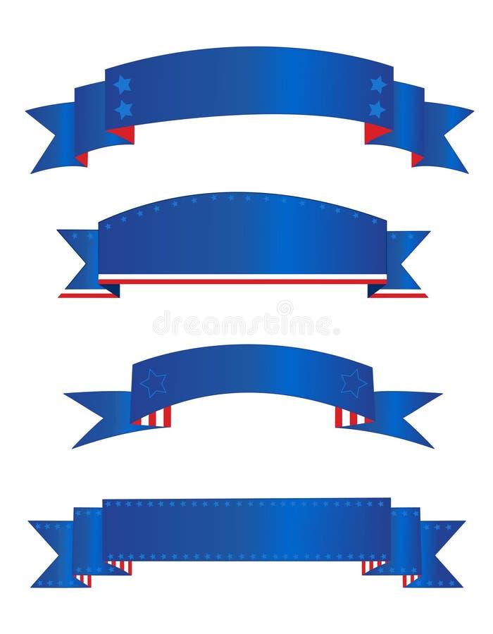 Bandera/banderas patrióticas stock de ilustración