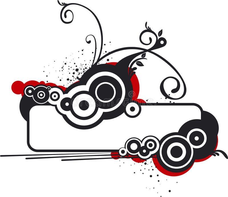 Bandera blanco y negro ilustración del vector