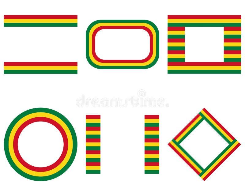 Bandera boliviana con el espacio de la copia stock de ilustración
