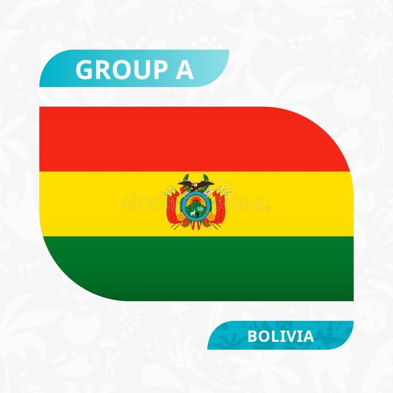 Bandera boliviana del equipo, hecha en estilo de la competencia del fútbol ilustración del vector