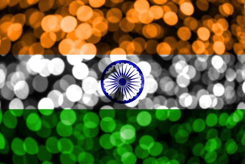 Bandera borrosa abstracta del bokeh de la India La Navidad, Año Nuevo y bandera del concepto del día nacional libre illustration