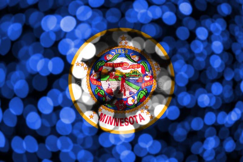 Bandera borrosa abstracta del bokeh de Minnesota La Navidad, Año Nuevo y bandera del concepto del día nacional Los Estados Unidos libre illustration