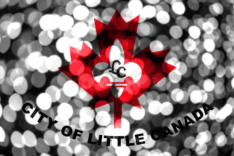Bandera borrosa abstracta del bokeh de poco Canadá, Minnesota La Navidad, Año Nuevo y bandera del concepto del día nacional Los E ilustración del vector
