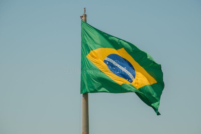 Bandera brasileña fotografía de archivo