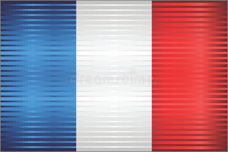 Bandera brillante del Grunge de la Francia ilustración del vector