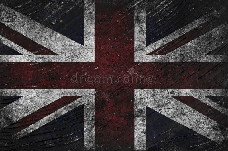 Bandera BRITÁNICA sucia ilustración del vector