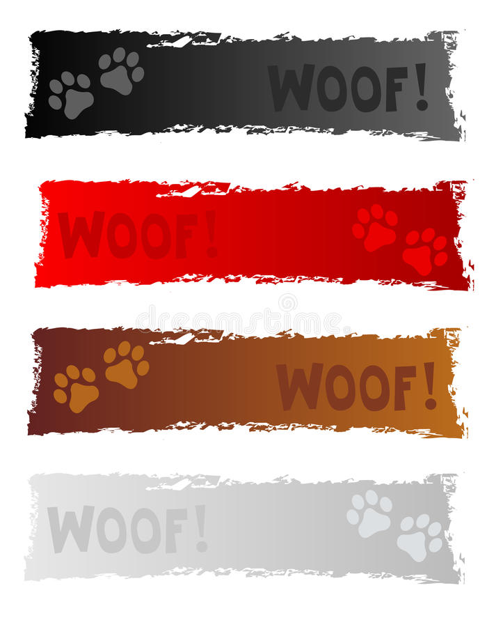 Bandera/cabecera del perro ilustración del vector
