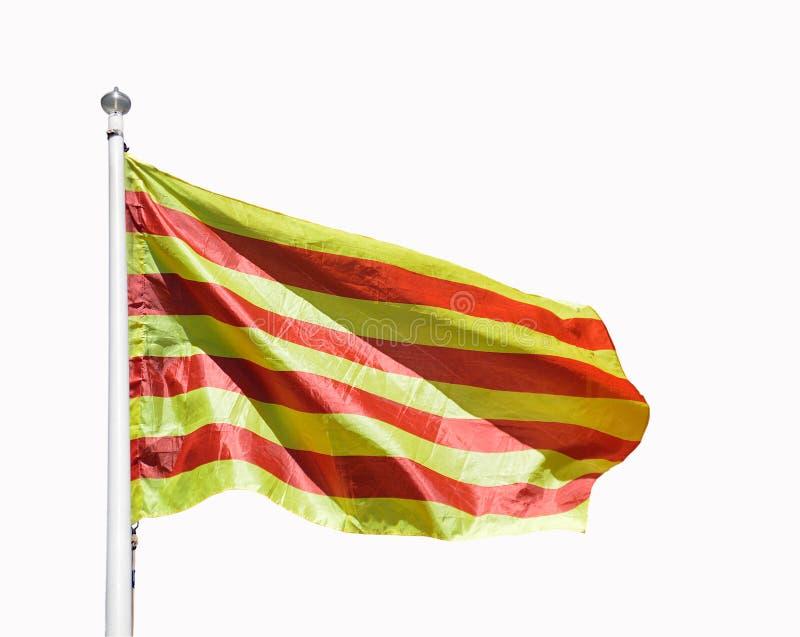 Bandera catalana con aislado imagen de archivo libre de regalías