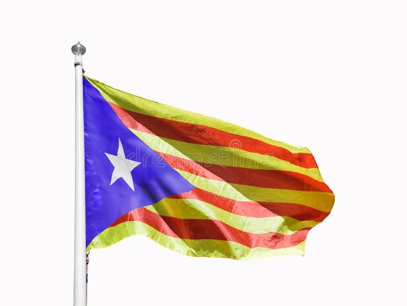 Bandera catalana del estelada aislada foto de archivo