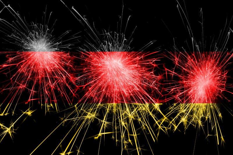 Bandera chispeante de los fuegos artificiales de Alemania Concepto del Año Nuevo, de la Navidad y del día nacional libre illustration