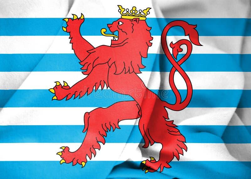 bandera civil 3D de Luxemburgo stock de ilustración
