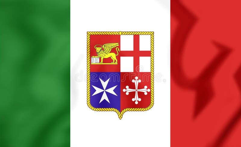 Bandera civil de Italia libre illustration