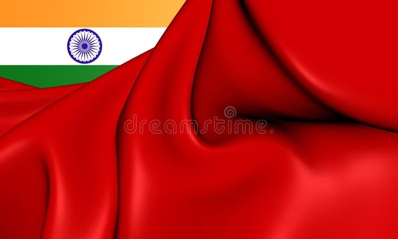 Bandera civil de la India ilustración del vector