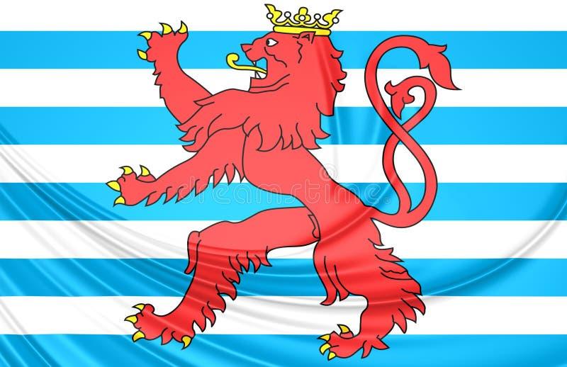Bandera civil de Luxemburgo ilustración del vector