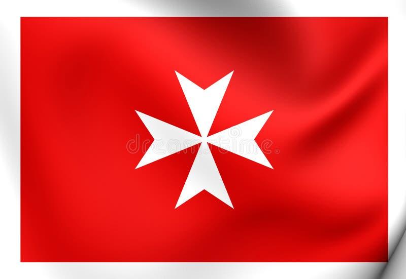 Bandera civil de Malta ilustración del vector
