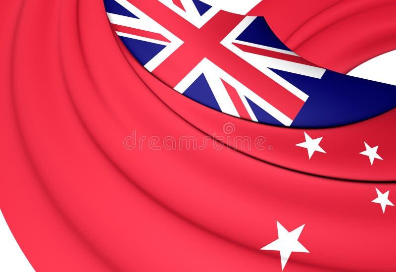 Bandera civil de Nueva Zelanda stock de ilustración