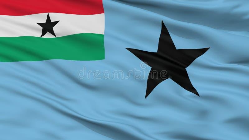 Bandera civil del aire de Ghana 1964 opinión del primer de 1966 banderas ilustración del vector
