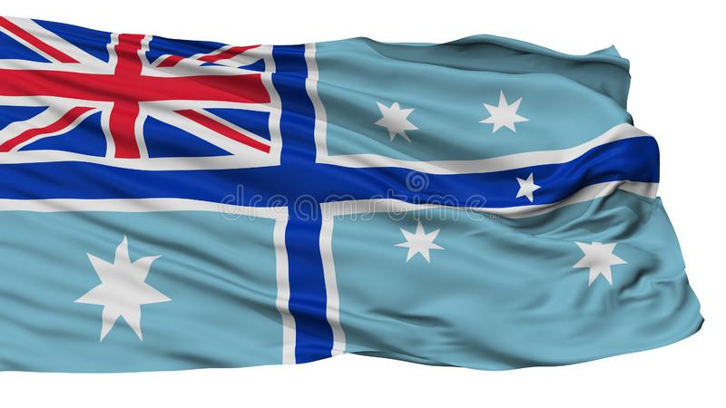 Bandera civil del aire de la bandera de Australia, aislada en blanco libre illustration