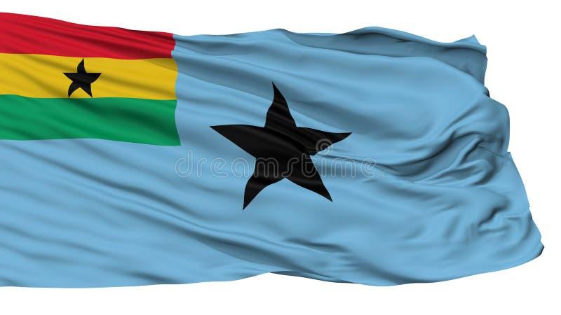 Bandera civil del aire de la bandera de Ghana, aislada en blanco libre illustration