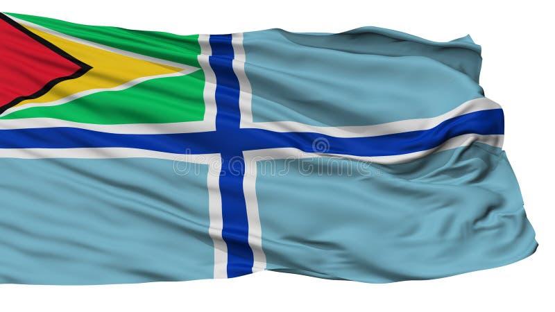 Bandera civil del aire de la bandera de Guyana, aislada en blanco libre illustration