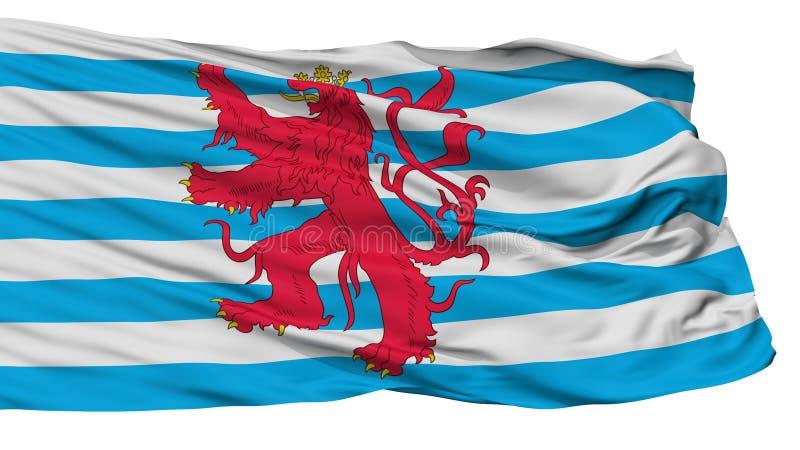 Bandera civil del aire de la bandera de Luxemburgo, aislada en blanco ilustración del vector