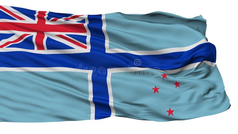 Bandera civil del aire de la bandera de Nueva Zelanda, aislada en blanco stock de ilustración