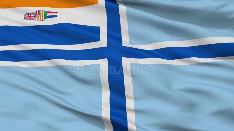 Bandera civil del aire de la opinión obsoleta del primer de la bandera de Suráfrica stock de ilustración