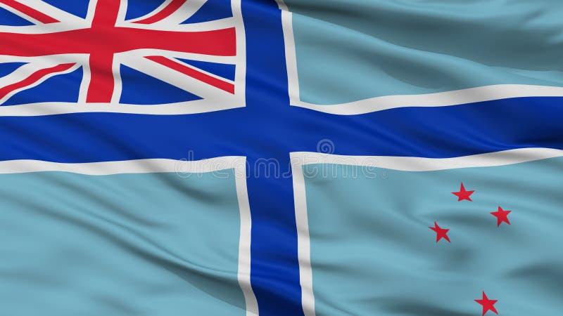 Bandera civil del aire de la opinión del primer de la bandera de Nueva Zelanda stock de ilustración