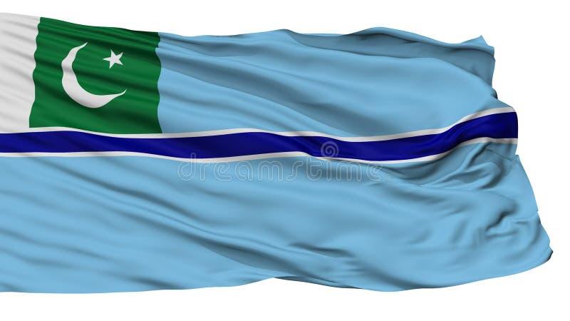Bandera civil del aire de la bandera de Paquistán, aislada en blanco ilustración del vector