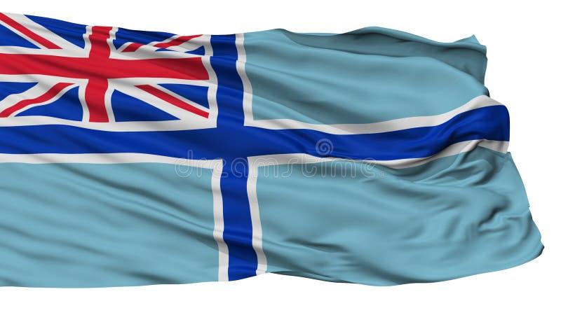 Bandera civil del aire de la bandera de Reino Unido, aislada en blanco ilustración del vector