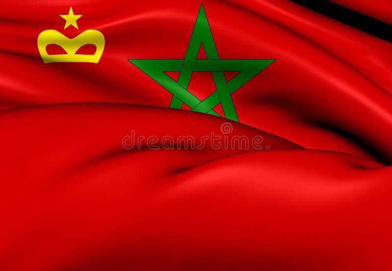 Bandera civil del Marruecos stock de ilustración