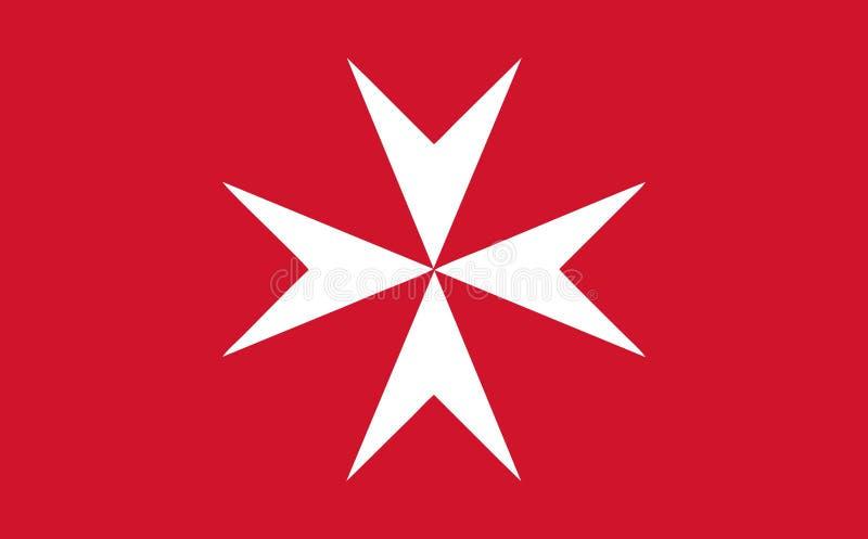 Bandera civil maltesa stock de ilustración