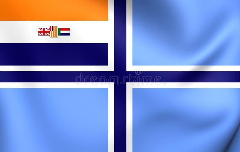 Bandera civil surafricana 1935-1994 del aire ilustración del vector