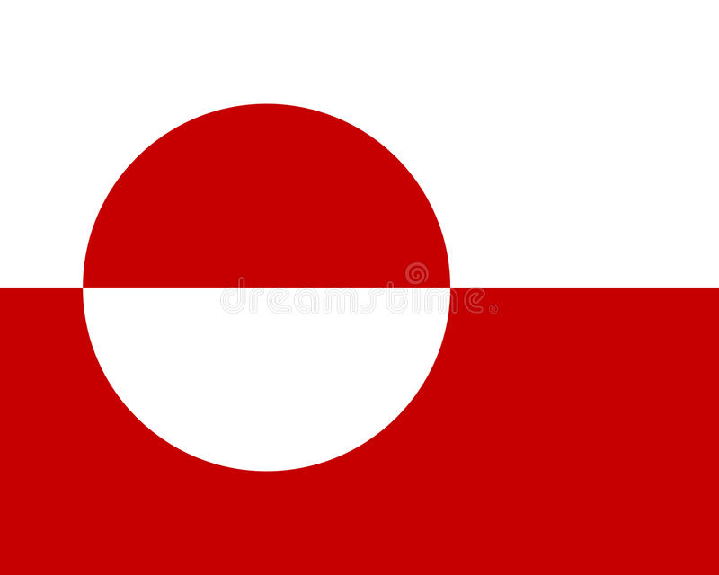 Bandera coloreada de Groenlandia libre illustration