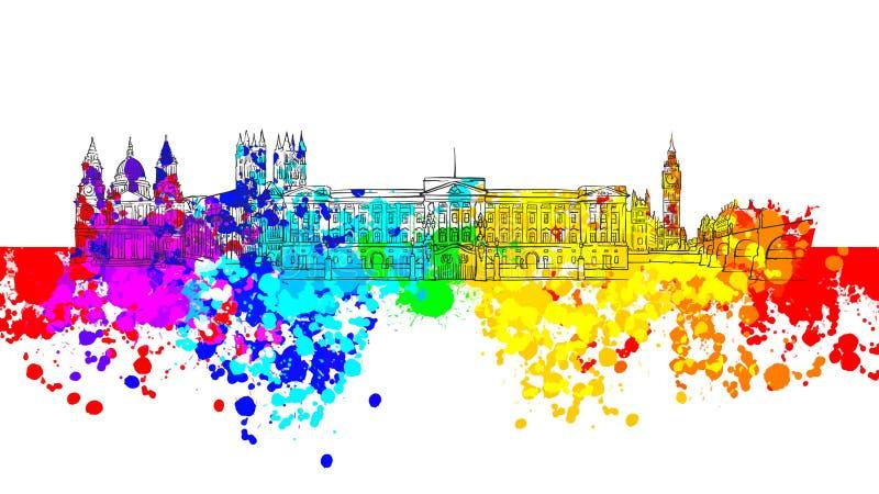 Bandera colorida de la señal de Londres libre illustration
